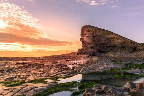 sunset-nash-point-vale-of-glamorgan-wale