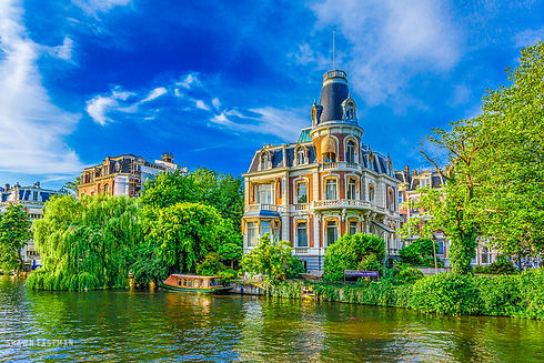 Landscape photograph of Amsterdam, the Netherlands