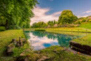 Landscape photograph of St Fagans Castle garden