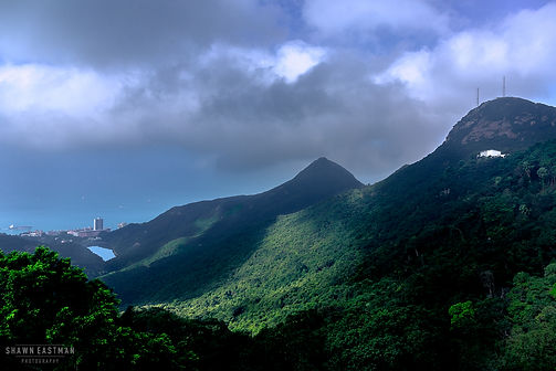 Landscape photograph of Lung Fu Shan, Pok Lu Fam & Mount High West from the Victoria Peak in Hong Kong