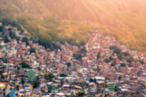 Landscape photograph of Rochina favela in Rio De Janeiro, Brazil