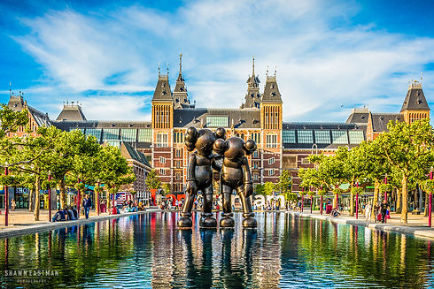 Landscape photograph of the Rijksmuseum in Amsterdam, the Netherlands