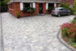 A block paved driveway at a house in Cardiff, Sout Wales