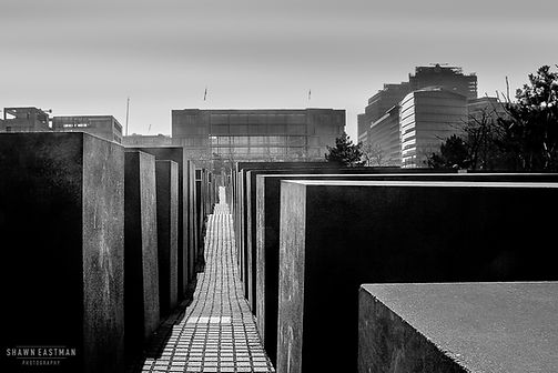 Street photograph at the Holocaust Memorial in Berlin, Germany
