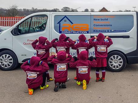 RGB Construction proud to sponsor local Cardiff football team