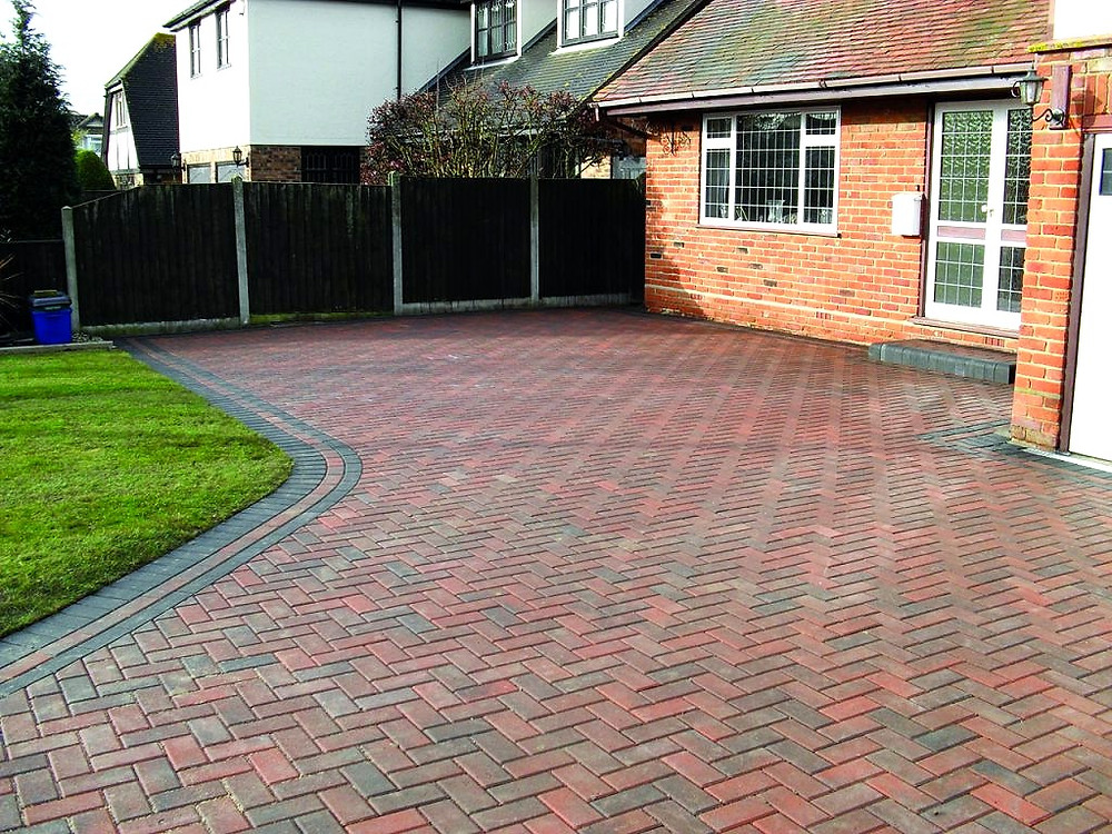 A clean block paving driveway in Cardiff