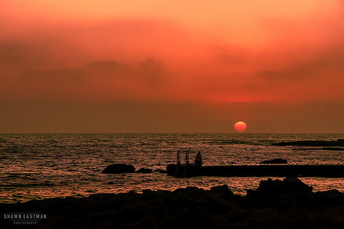 Landscape photograph of the sunset in Paphos, Cyprus