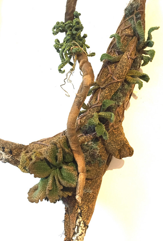 Textile plants Tree trunk 2 sizes with p