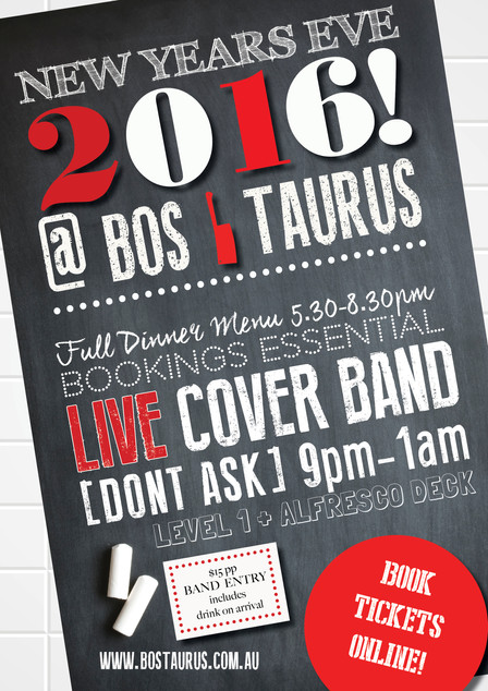 NEW YEARS EVE 2016 AT BOS!