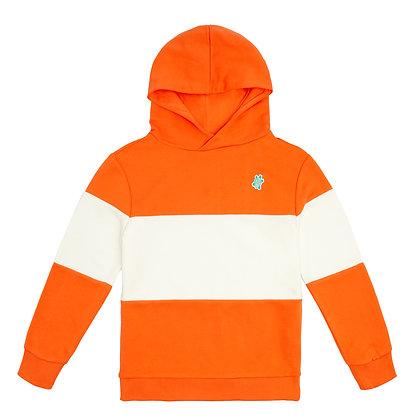 Hoodie Oranje/Wit