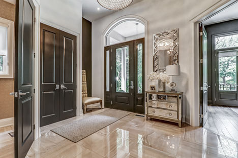 "Soaring 8' interior doors on main floor, fixed with Emtek levers will capture the grandeur of the mainfloor. Did I mention the 7"" baseboards?..."