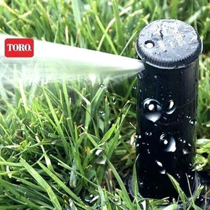 Green grass is the perfect contrast to your professionally selected exterior. Toro's irrigation system will ensure your grass won't blend with your home.