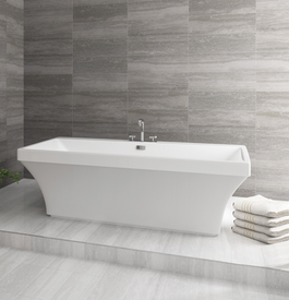 Soak your stress away. Our Mirolin freestanding tub is not only useful, it is also stunning to look at!