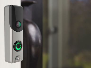 Unsure of who is at your front door? The Skybell will show you instantly on your smart phone where ever you are! As well, you will be able to control some lights & have an indoor and outdoor camera!