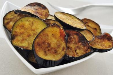 Za'atar fried aubergine