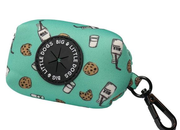 DOG POOP BAG HOLDER: Milk & Cookies