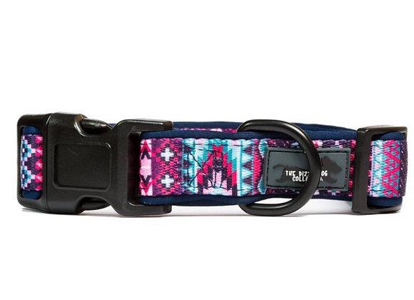 Purple Aztec Dog Collar Size Small