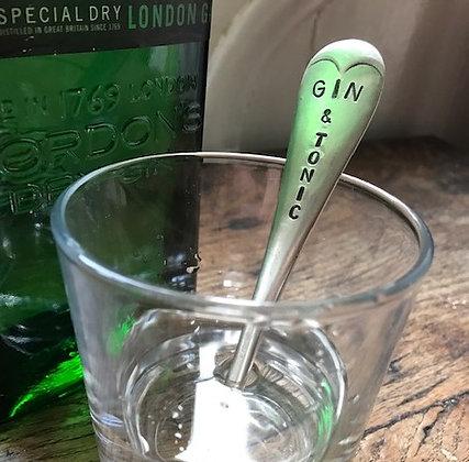 Gin and Tonic Teadrop Drinks Stirrer