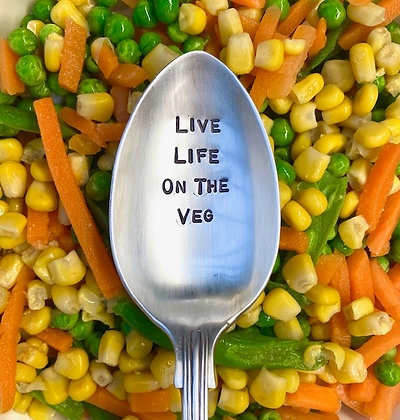 Live Life On The Veg Serving Spoon