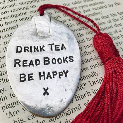 Drink Tea Read Books Be Happy Bookmark