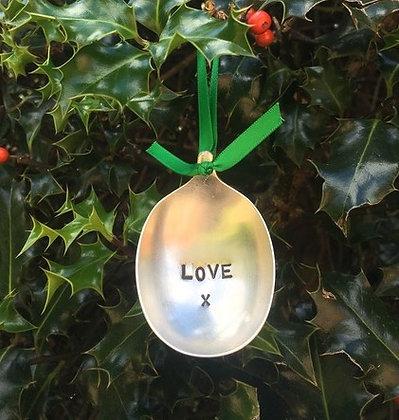 Love Christmas Tree Bauble