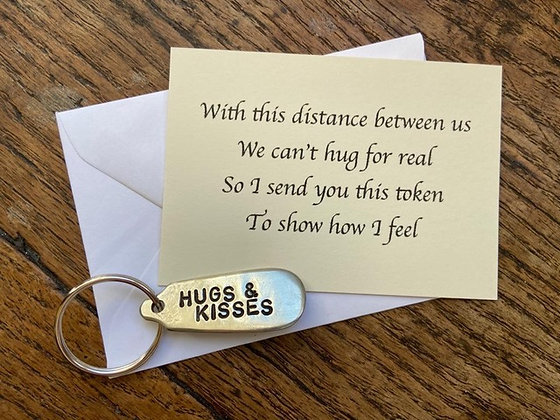 Hugs and Kisses Keyring Lockdown Gift