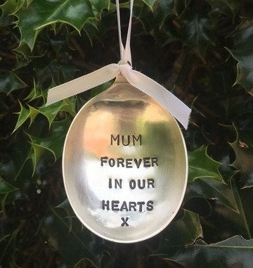 Mum Forever In Our Hearts Christmas Tree Bauble