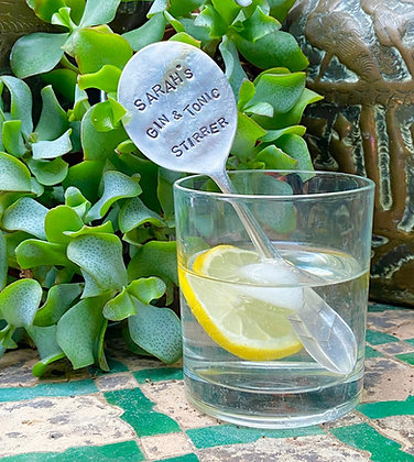 Personalised Gin & Tonic Drinks Stirrer