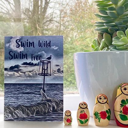 Swim Wild Swim Free Notelet Packs