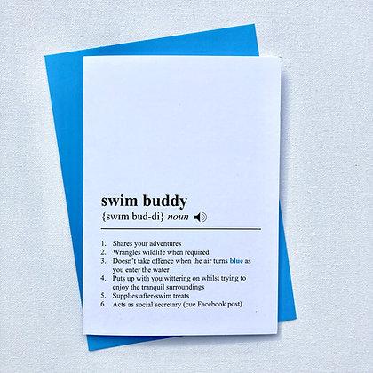 Swim Buddy Birthday Card