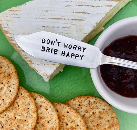 Don't Worry Brie Happy Knife