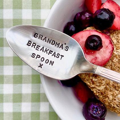 Grandma's Breakfast Spoon