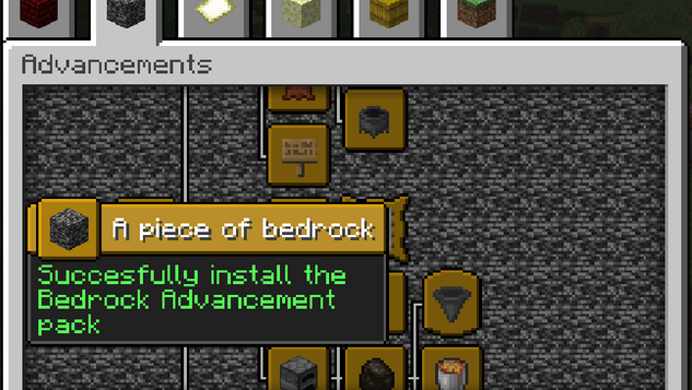 More Advancements: Achievements from the Bedrock Edition in Java Edition