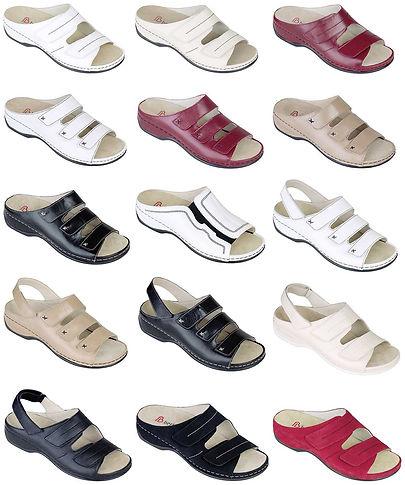 obuv kožená šířkově stavitelná pantofle papuče sandálky podpora podélné a příčné klenvy, tlumí nárazy paty berkemann cz