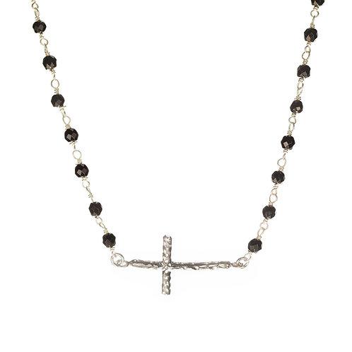 křížek. černý onyx.