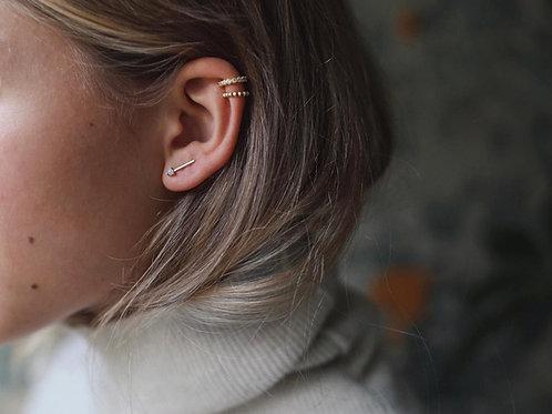 ear cuff. stones