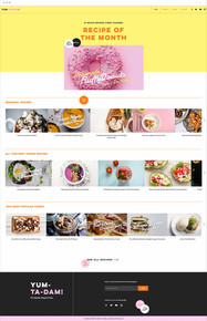Online Recipes Website Template