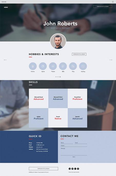 Business CV Website Template