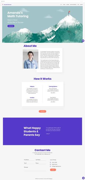 Tutor Website Template