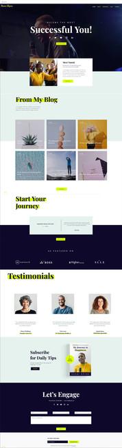 Motivational Speaker Website Template