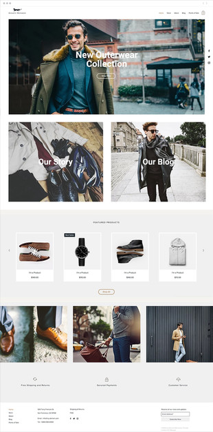Men's Fashion Website Template