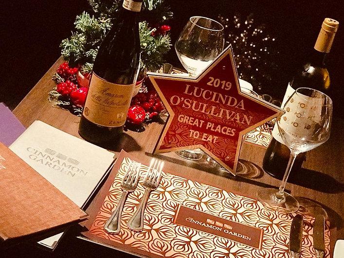 Lucinda O'Sullivan Great Places to Eat | The Cinnamon Garden, Best Indian Restaurant Co. Meath, Dublin, Ireland.
