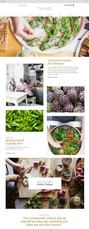 Vegetarian Restaurant Website Template