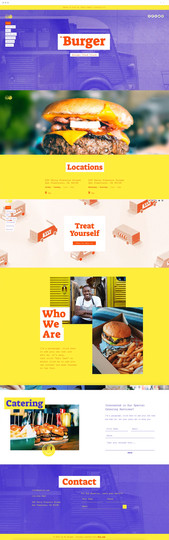 Food Truck Website Template