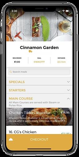 The Cinnamon Garden App, Best Indian Restaurant, Takeaway, Delivery in Ashbourne, Co. Meath, Dublin, Ireland.