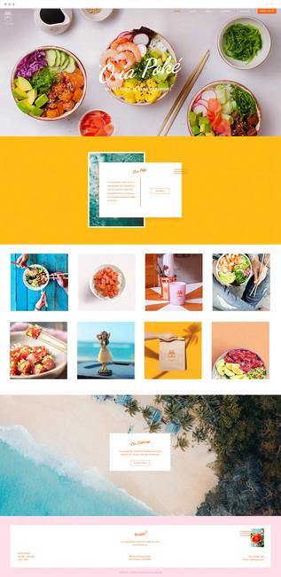 Poke Restaurant Website Template