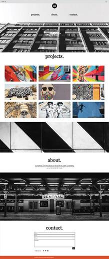 Graffiti Artist Website Template