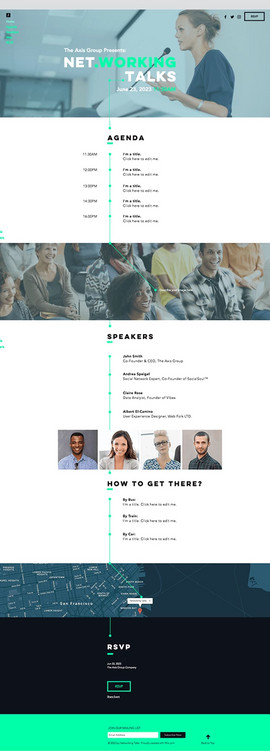 Business Networking Website Template