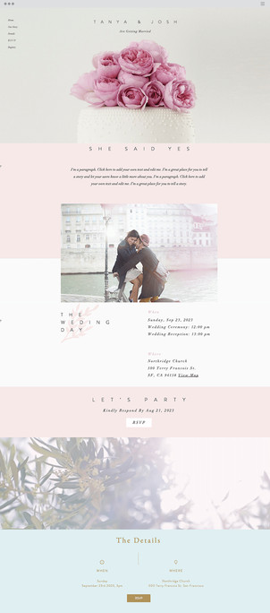 Classic Wedding Invite Website Template