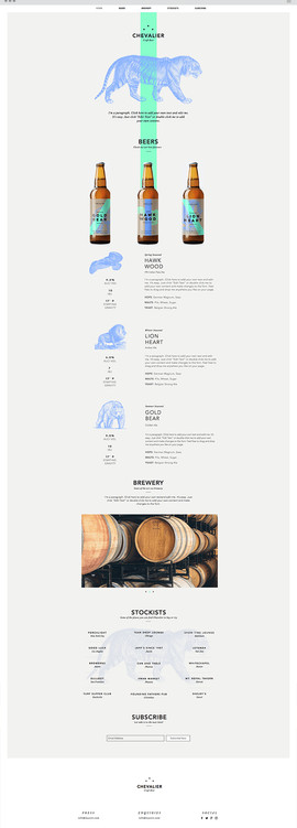 Boutique Beer Website Template